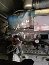 Broken shaft