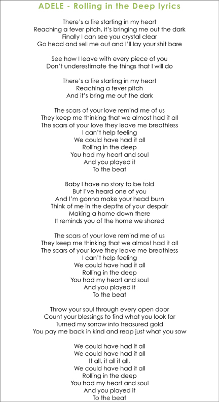 You Could Have Had It All : could, Adele, Rolling, Lyrics