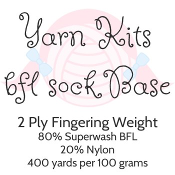 Yarn Kits - BFL Sock Base