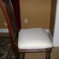 How To Reupholster A Chair Cushion Corner Massage Zero Gravity Recover Dining Room Seats  Pads And Cushions