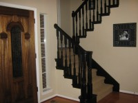 paint stairs black   A Girl Can Do It