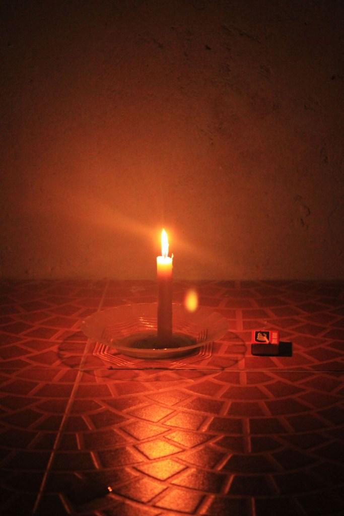 candle in the dark digital detox trip in nature
