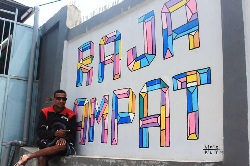 raja ampat mural painting digital detox trip