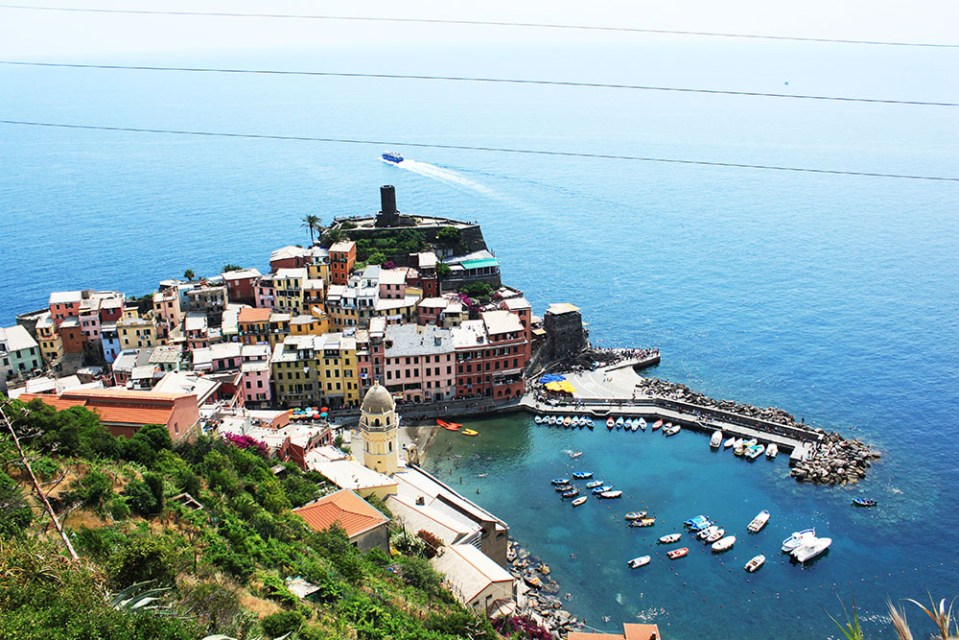 cinque terre view from above while join tour