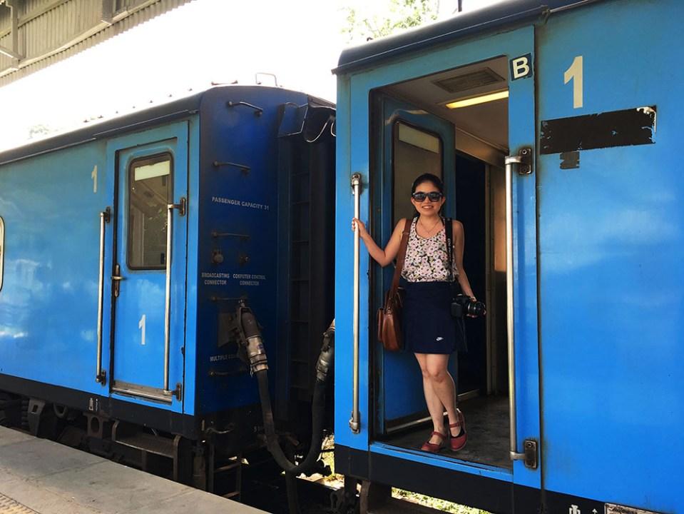female traveller on ella kandy train ride sri lanka lonely planet