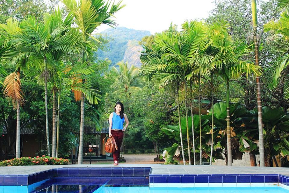 m.p.s. village sri lanka swimming pool in the nature