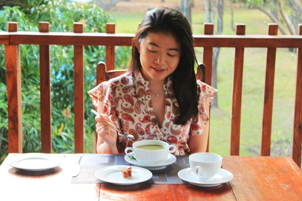 breakfast and birdwatching at m.p.s. village sri lanka