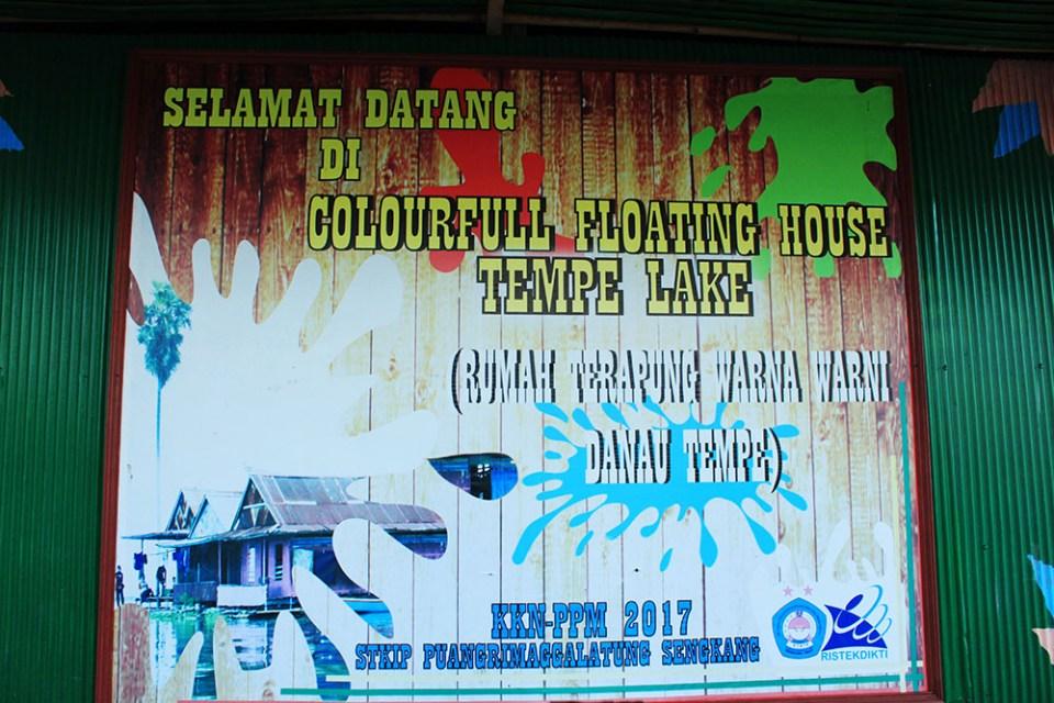 floating house danau tempe tempe lake indonesia