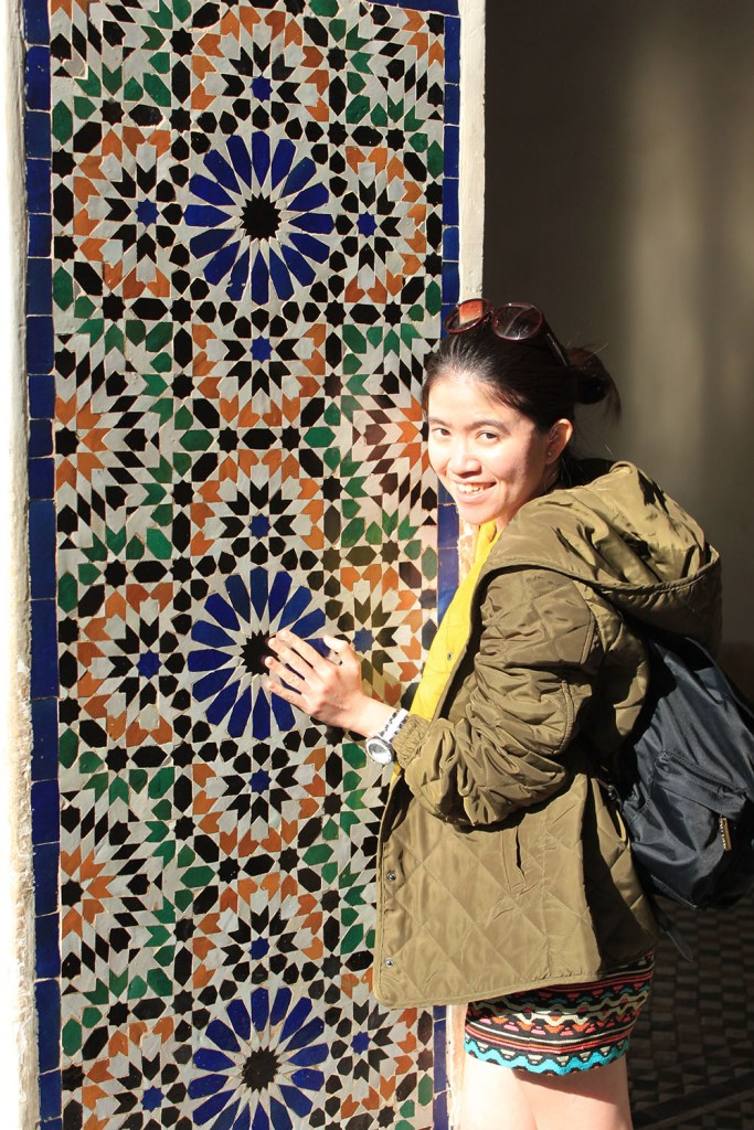 colorful tiles on the wall in Morocco as soul therapy