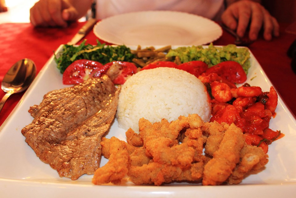 lunch set at meson del principe camaguey cuba food guide