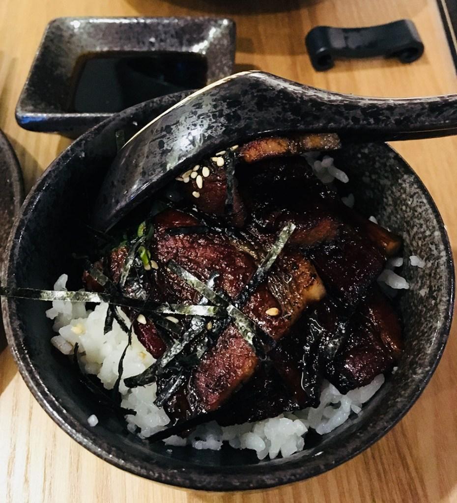 Ryoshi Izakaya Signature Pork belly rice