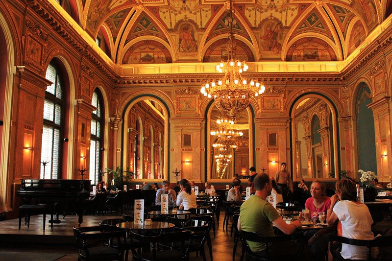 agirlnamedclara beautiful cafe alexandra bookstore budapest hungary