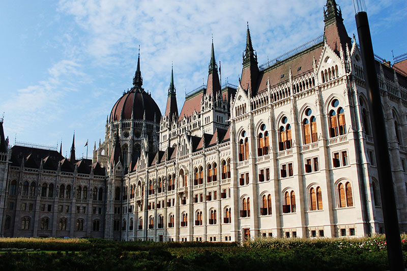Parliament of Budapest morning blue sky agirlnamedclara