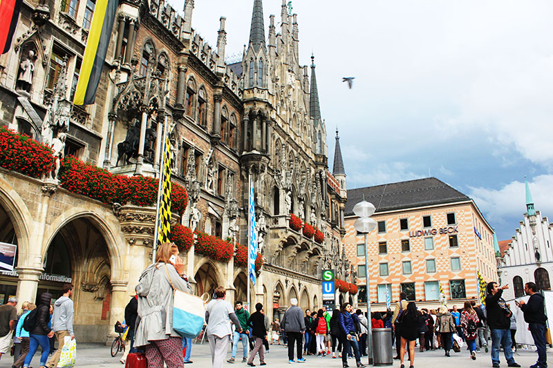 marienplatz munich germany oktoberfest september