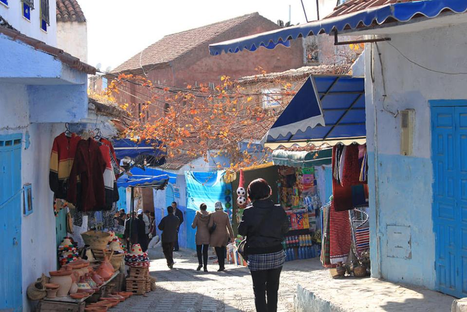 chefchaouen the blue city morocco market_agirlnamedclara
