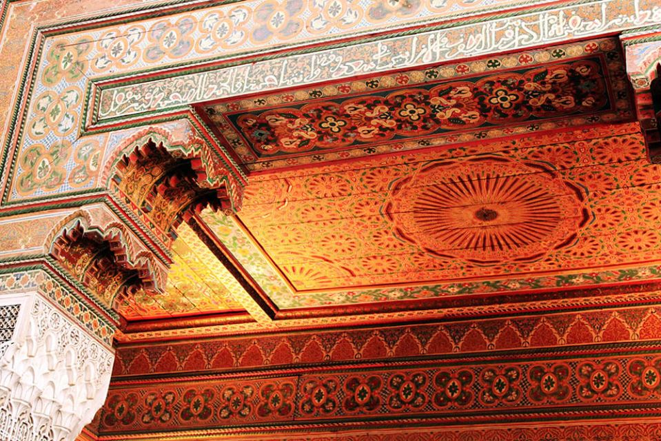 Bahia Palace Morocco wooden sculpture ornament ceiling architecture design details zoom in agirlnamedclara