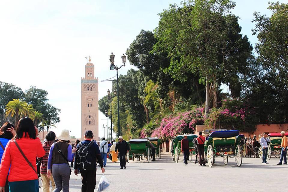 marrakech souk morocco entrance exit tourist walking agirlnamedclara