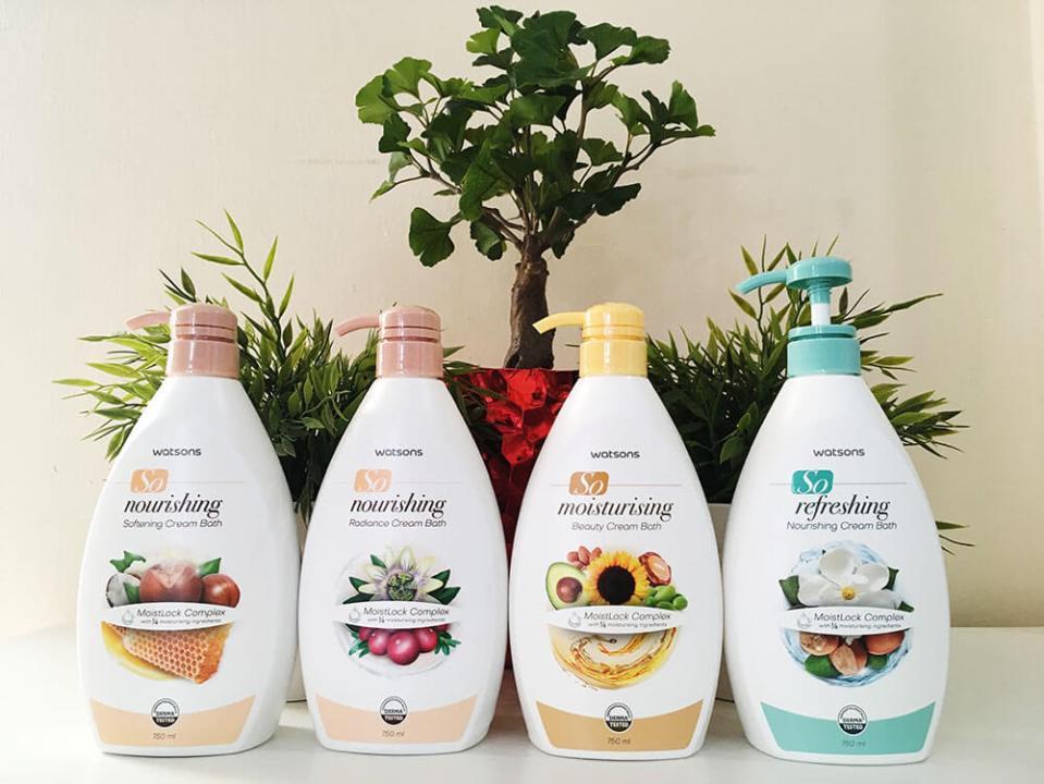 agirlnamedclara year end sale watsons malaysia so nourishing refresing moisturising cream bath body wash