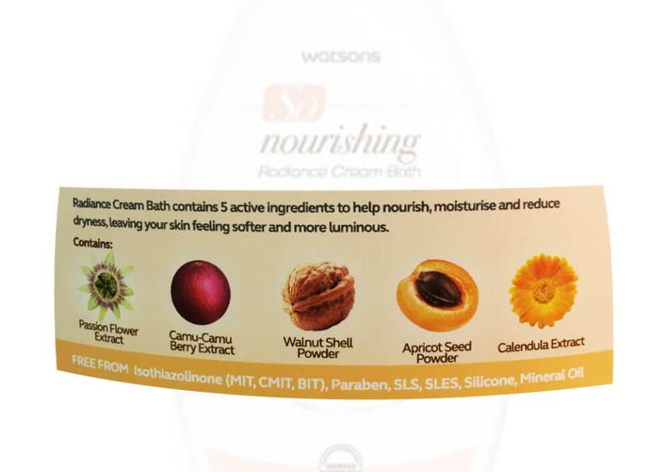 agirlnamedclara watsons so nourishing radiance cream bath ingredients