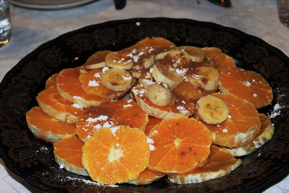 oranges banana cinnamon powders local dessert morocco agirlnamedclara