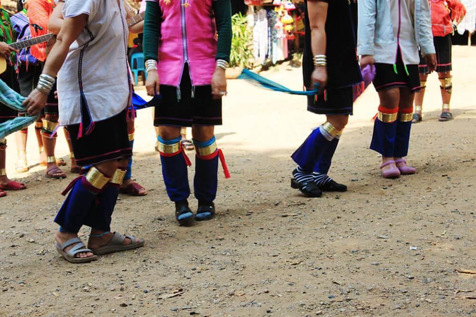 local women wearing calves protection long neck tribe village chiang mai agirlnamedclara