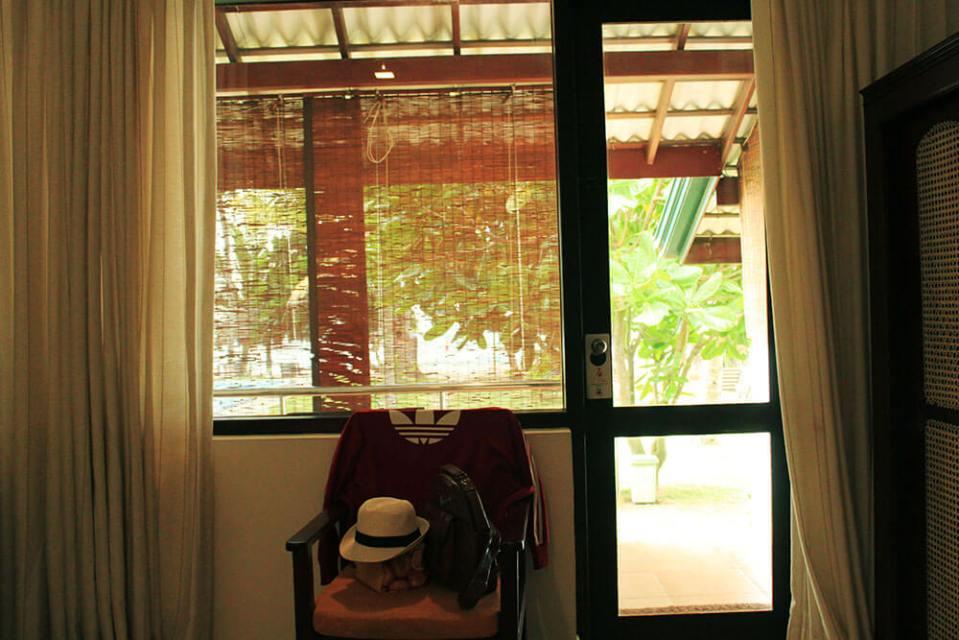morning beach view private balcony from the room sea rock villa bentota sri lanka agirlnamedclara