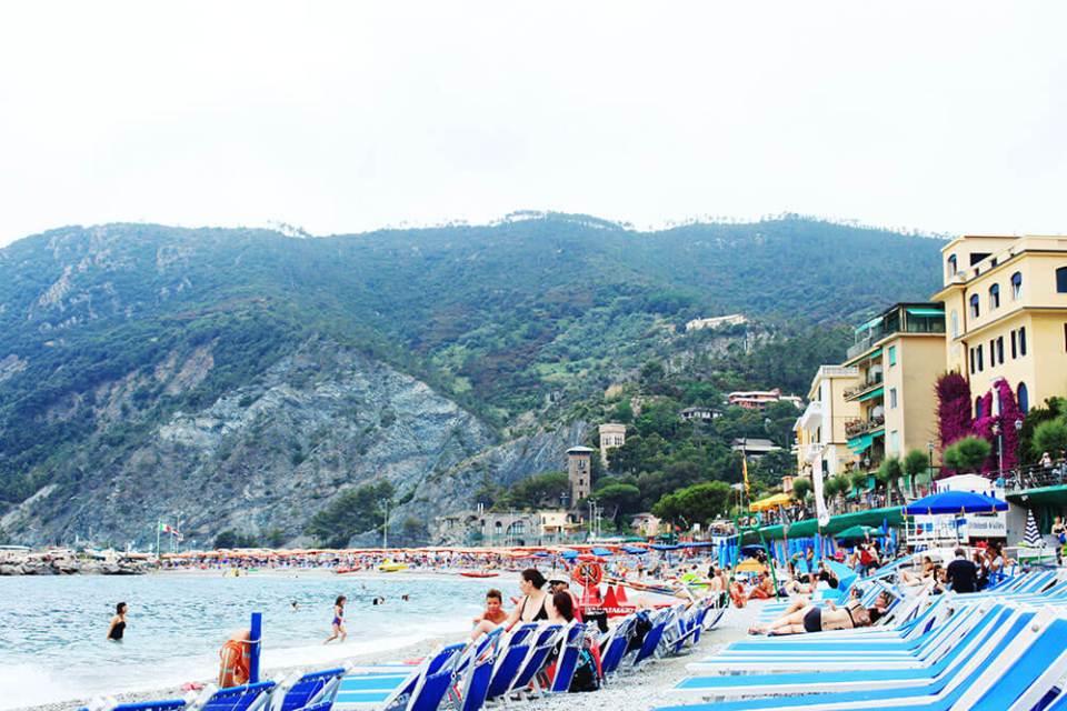 Monterosso private beach cinque terre italy morning agirlnamedclara