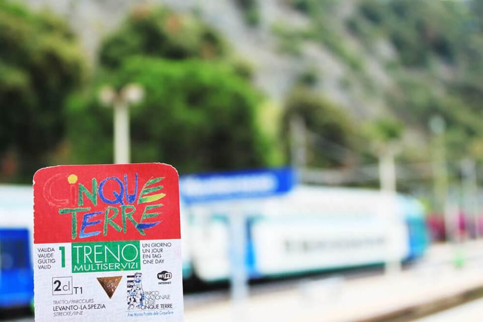 cinque terre train ticket with train station background italian riviera italy agirlnamedclara