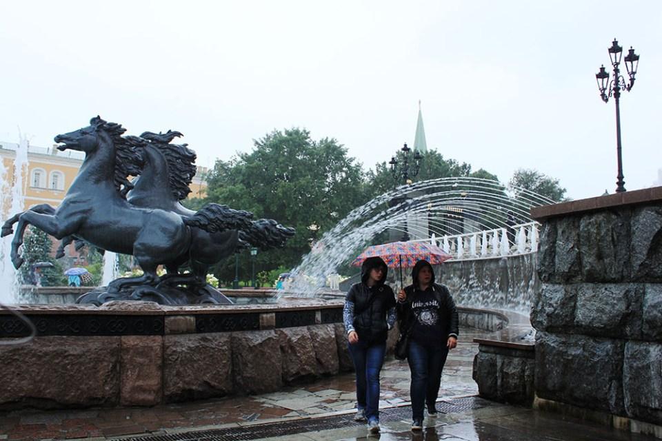 locals women walking on rainy day moscow russia agirlnamedclara