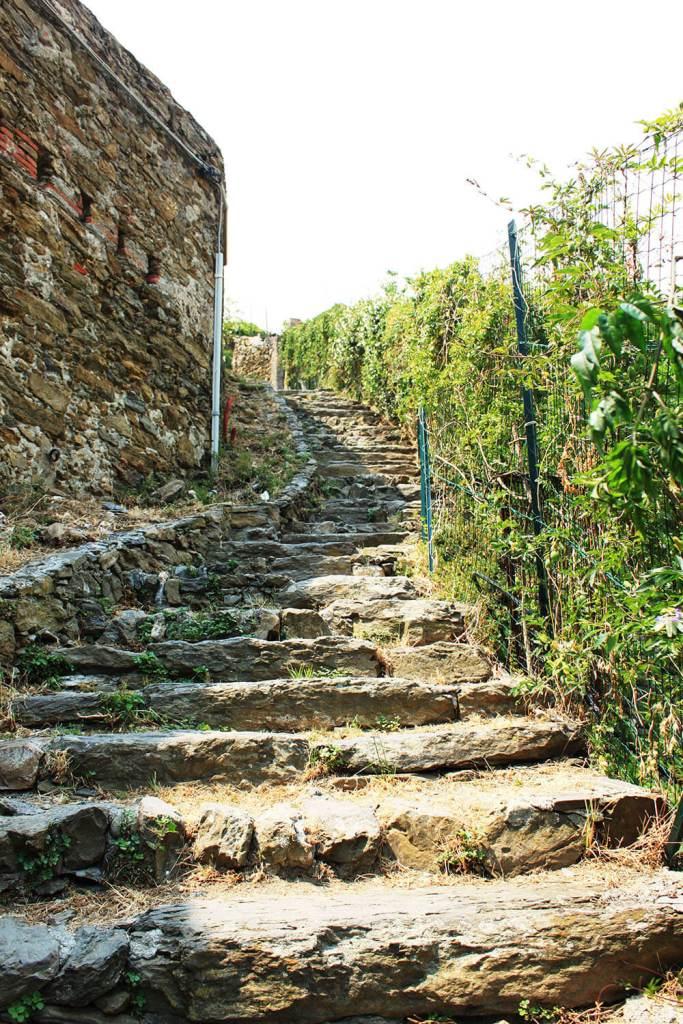 natural staircases to Vernazza cemetery Cinque Terre Italy agirlnamedclara