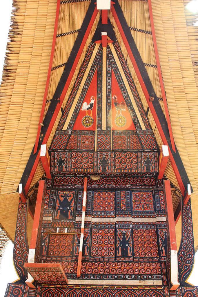 tongkonan carving details design red toraja traditional burial house kete kesu indonesia_agirlnamedclara