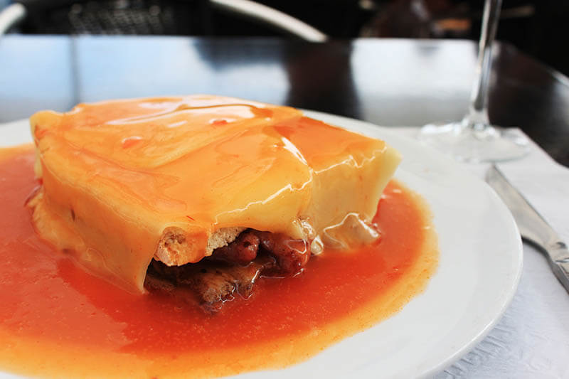 francesinha traditional food porto portugal agirlnamedclara