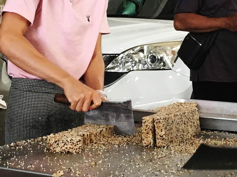 man cutting rice cracker lps rice mill factory sekinchan agirlnamedclara
