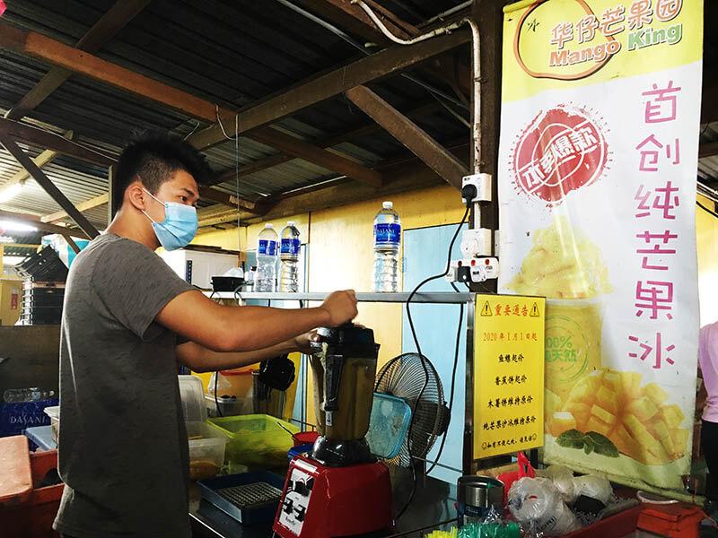 people make mango juice mango king stall sekinchan agirlnamedclara