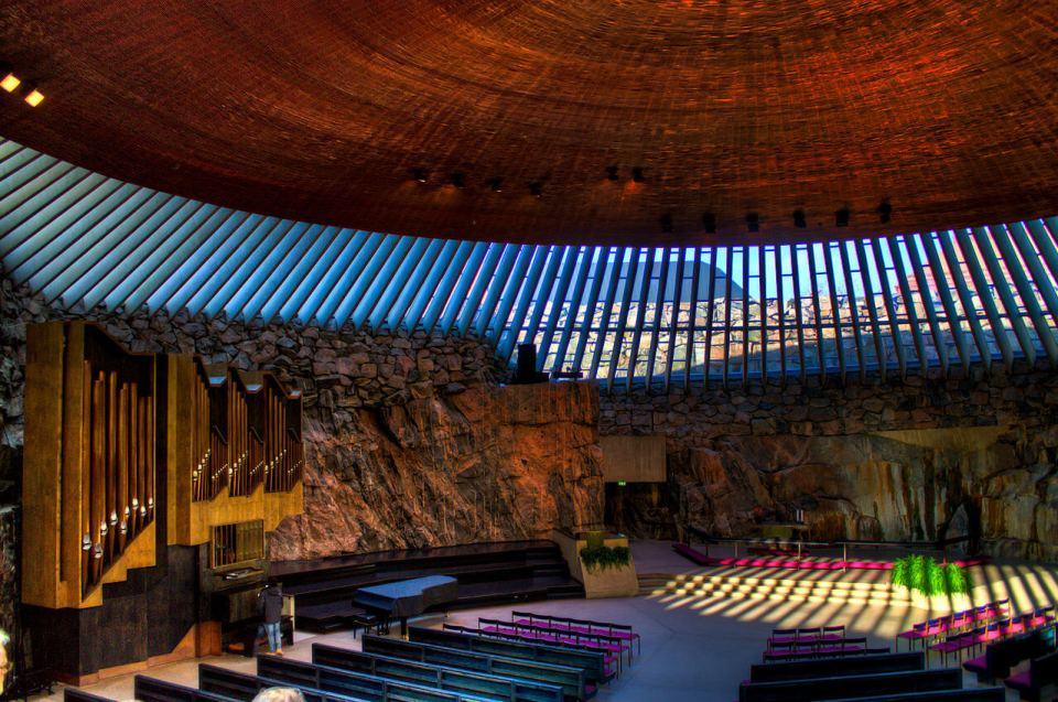 The Temppeliaukio Rock Church Helsinki Finland by Matthew Duncan agirlnamedclara