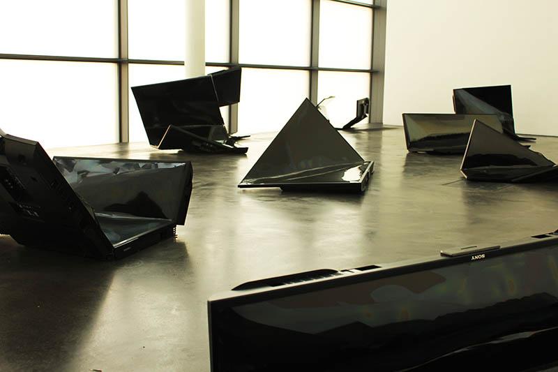 damaged tv kiasma contemporary art museum helsinki finland agirlnamedclara