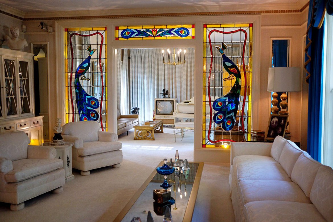 The Living room at Elvis's Graceland
