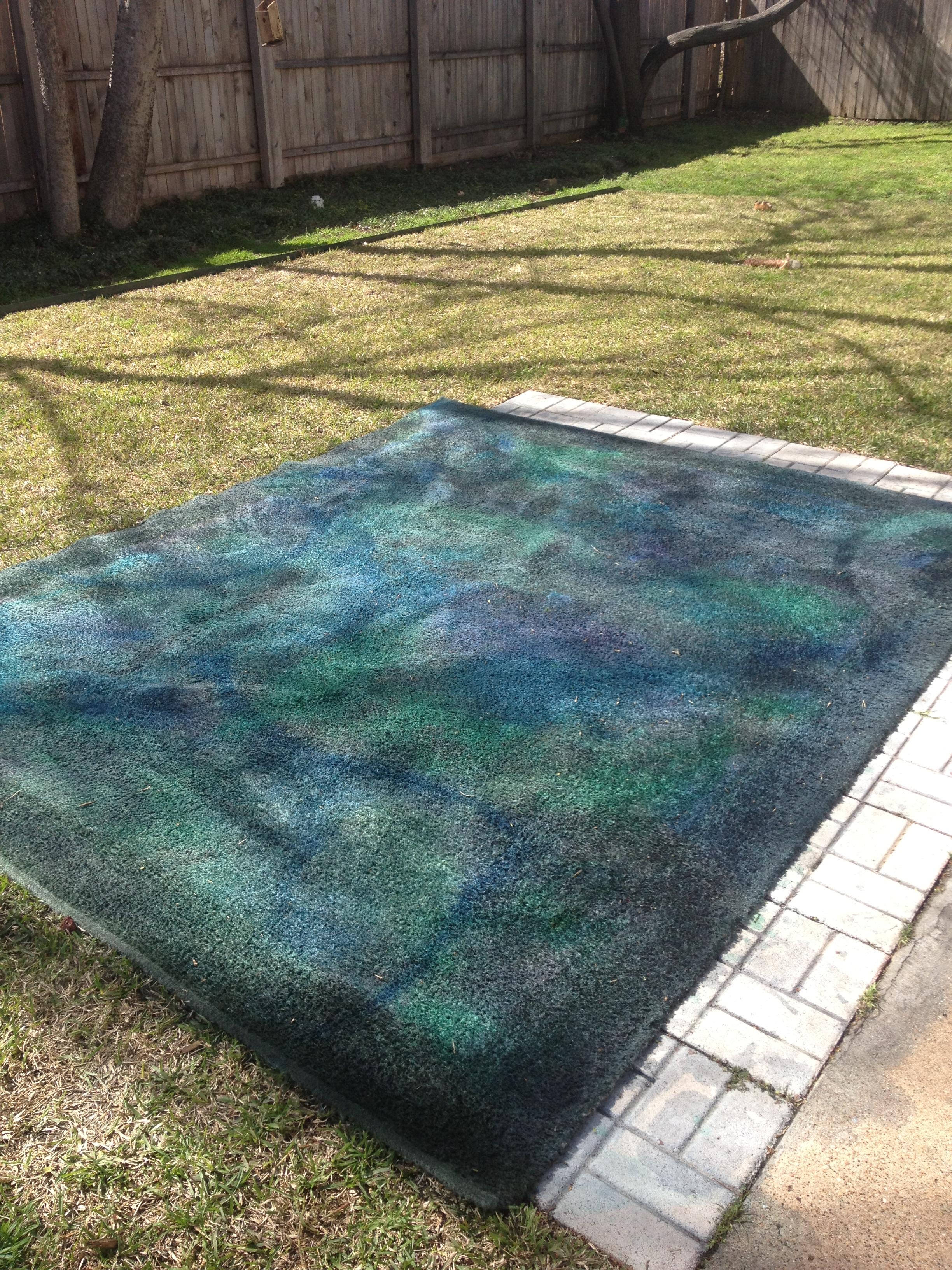 hand dye wool area rug  agirlnamedwallis