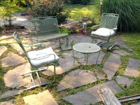 A Quick and Dirty Flagstone Patio | A Girl's Guide to DIY
