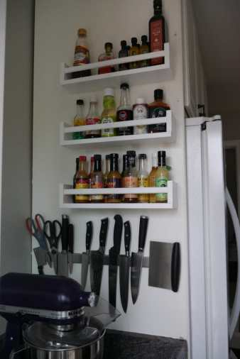new spice racks and knife rack