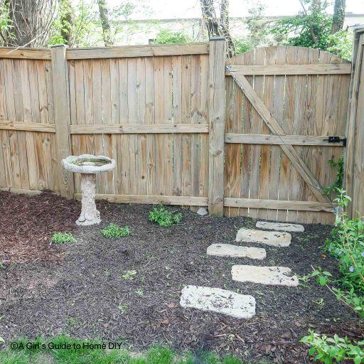 clean backyard fence