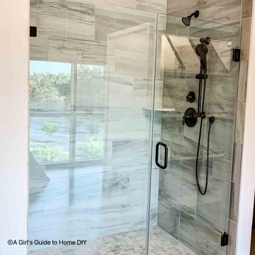 frameless shower door at design center