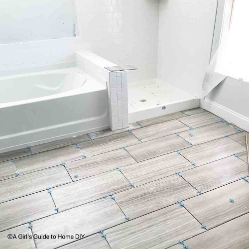 correct tile in the master bath