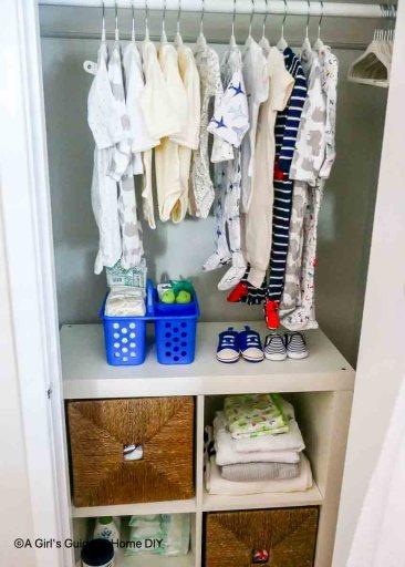 completed nursery closet