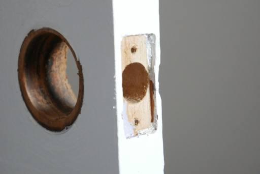 door knob removed from door