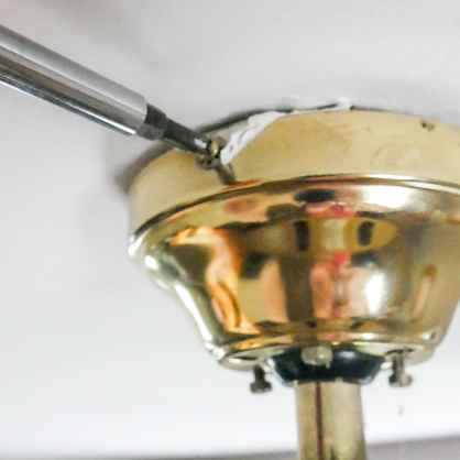 removing the old light fixture