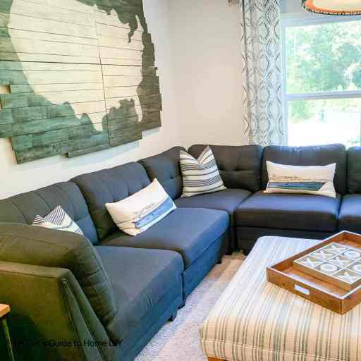 room with sectional couch
