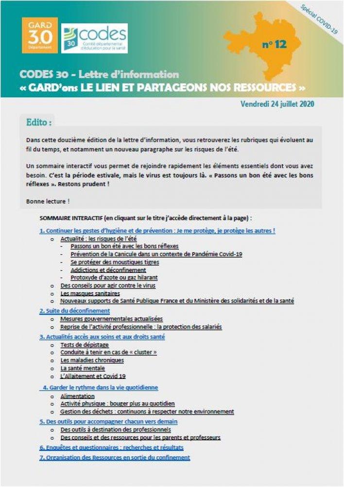 Ville Du Gard En 4 Lettres : ville, lettres, Lettre, D'information, Spécial, Covid-19, GARD'ons, Partageons, Ressources, AgiSanté, Interculturalité, Santé