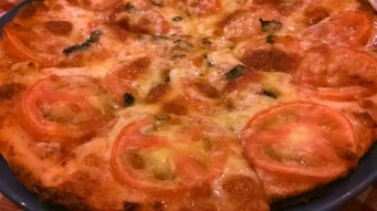 margherita pizza (close up)