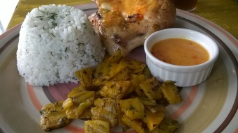grilled pumpkin as side dish
